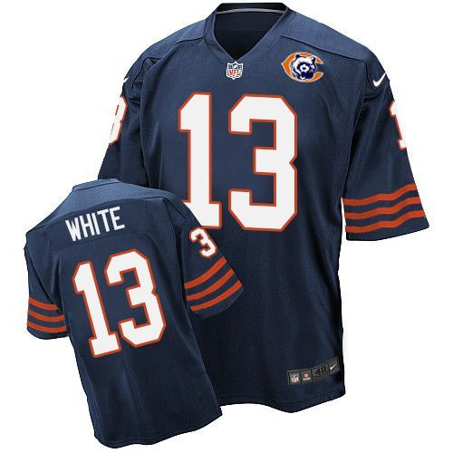 2016 Nike NFL Chicago Bears 13 White throwback blue jersey