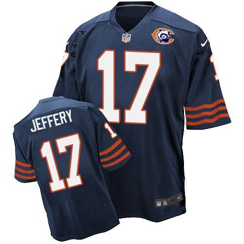 2016 Nike NFL Chicago Bears 17 Jeffery throwback blue jersey