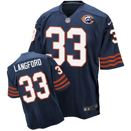 2016 Nike NFL Chicago Bears 33 Langford throwback blue jersey