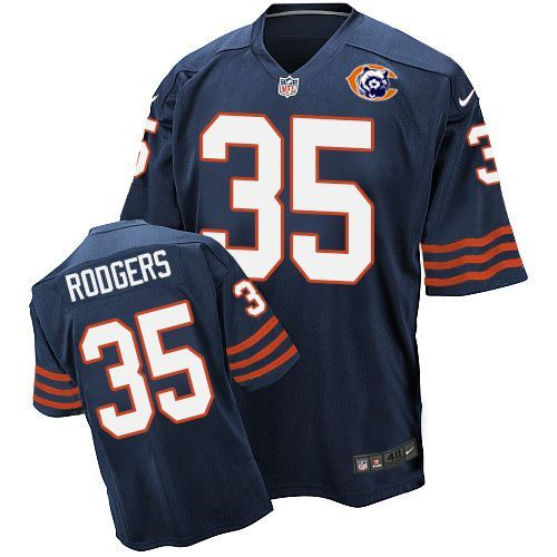 2016 Nike NFL Chicago Bears 35 Rodgers throwback blue jersey