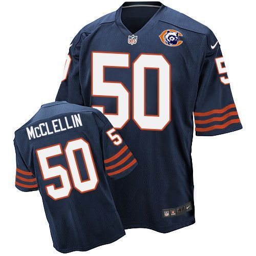 2016 Nike NFL Chicago Bears 50 McClellin throwback blue jersey
