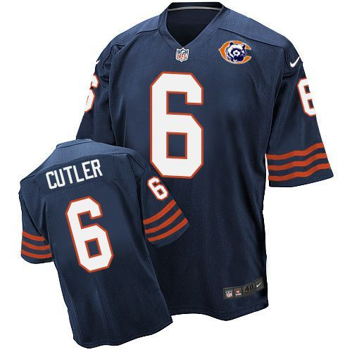 2016 Nike NFL Chicago Bears 6 Cutler throwback blue jersey