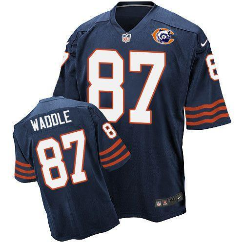2016 Nike NFL Chicago Bears 87 Waddle throwback blue jersey