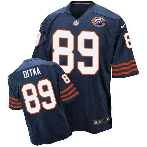2016 Nike NFL Chicago Bears 89 Ditka throwback blue jersey