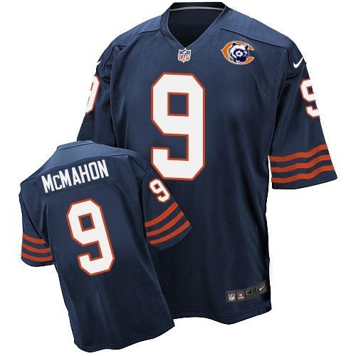 2016 Nike NFL Chicago Bears 9 McMahon throwback blue jersey