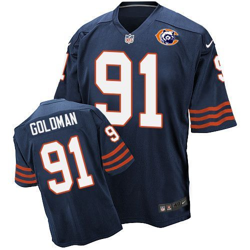 2016 Nike NFL Chicago Bears 91 Goldman throwback blue jersey