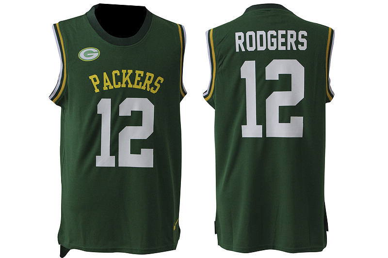 2016 Nike NFL Green Bay Packers 12 Rodgers green Limited jersey