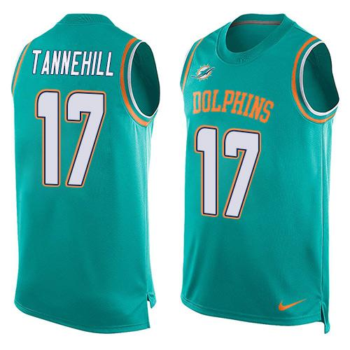 2016 Nike NFL Miami Dolphins 17 Ryan Tannehill Green Men Stitched Limited Tank Top Jersey