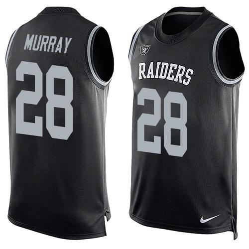 2016 Nike NFL Oakland Raiders 28 Latavius Murray black Men Stitched Limited Tank Top Jersey