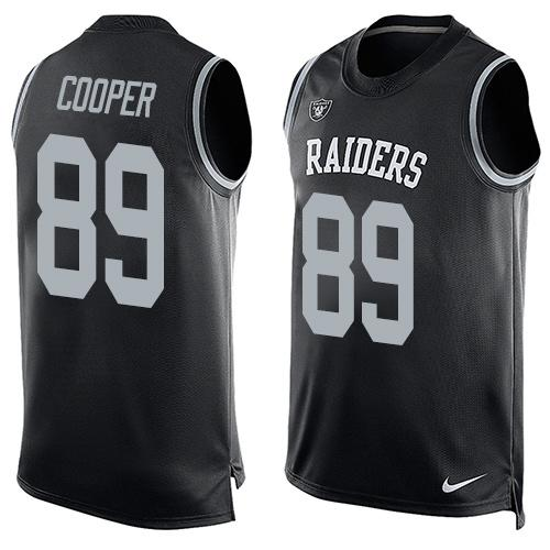 2016 Nike NFL Oakland Raiders 89 Amari Cooper black Men Stitched Limited Tank Top Jersey