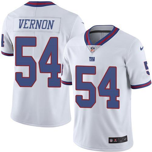 2016 Nike New York Giants 54 Olivier Vernon White NFL Limited Rush Jersey