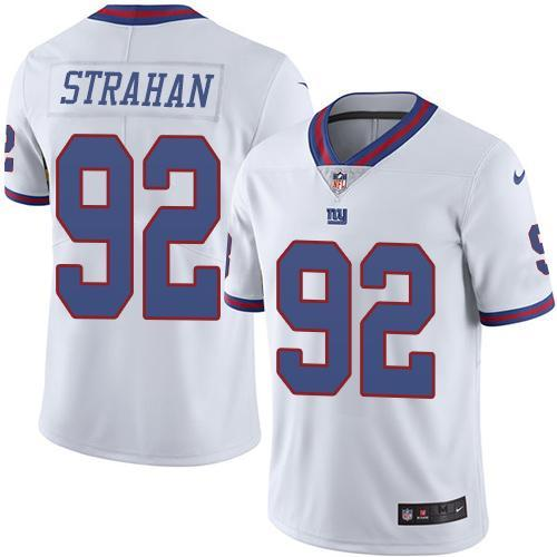 2016 Nike New York Giants 92 Michael Strahan White NFL Limited Rush Jersey