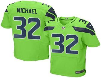 2016 Nike Seahawks 32 Christine Michael Green Men Stitched NFL Elite Rush Jersey