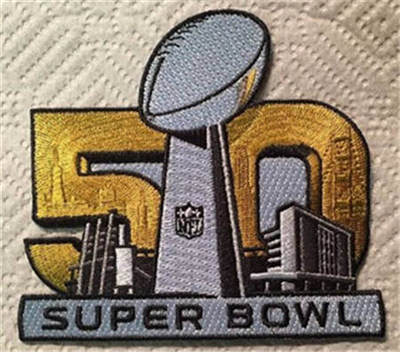 2016 Super Bowl 50 Jerseys Stitched Patch