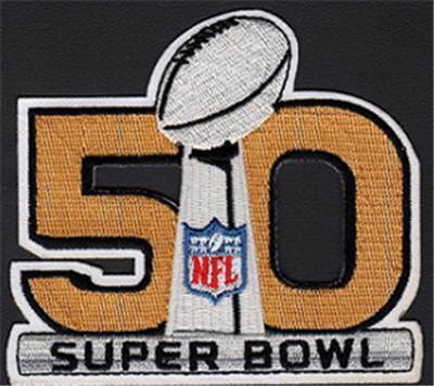 2016 Super Bowl 50th Jersey Stitched Patches.