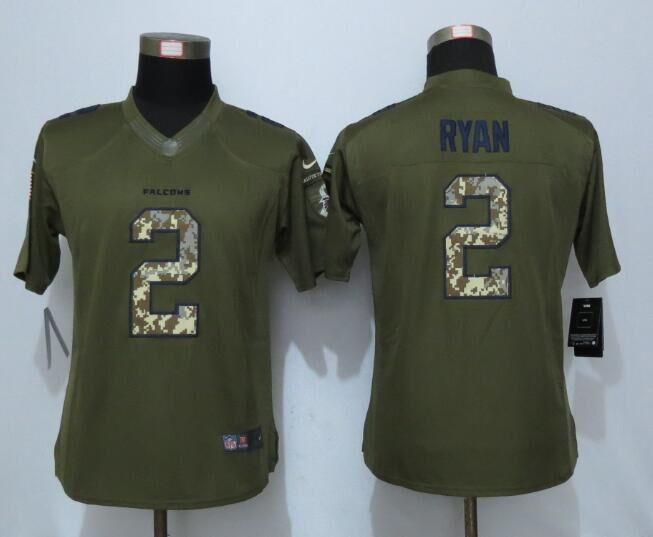 2016 Women New Nike Atlanta Falcons 2 Ryan Green Salute To Service Limited Jersey