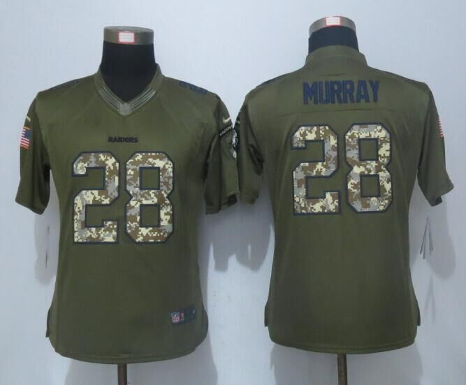 2016 Women New Nike Oakland Raiders 28 Murray Green Salute To Service Limited Jersey