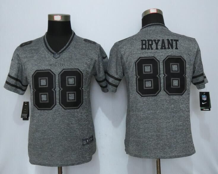2016 Womens Dallas Cowboys 88 Bryant Gray Stitched Gridiron Gray New Nike Limited Jersey