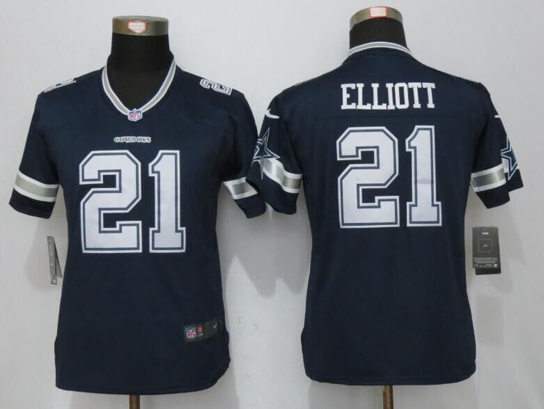 2016 Womens Dallas cowboys 21 Elliott Blue Nike Limited Jersey