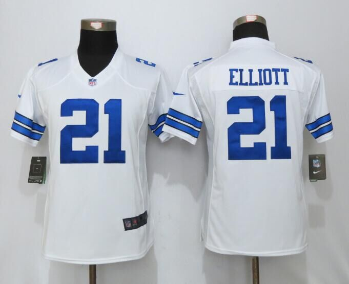 2016 Womens Dallas cowboys 21 Elliott White Nike Limited Jersey