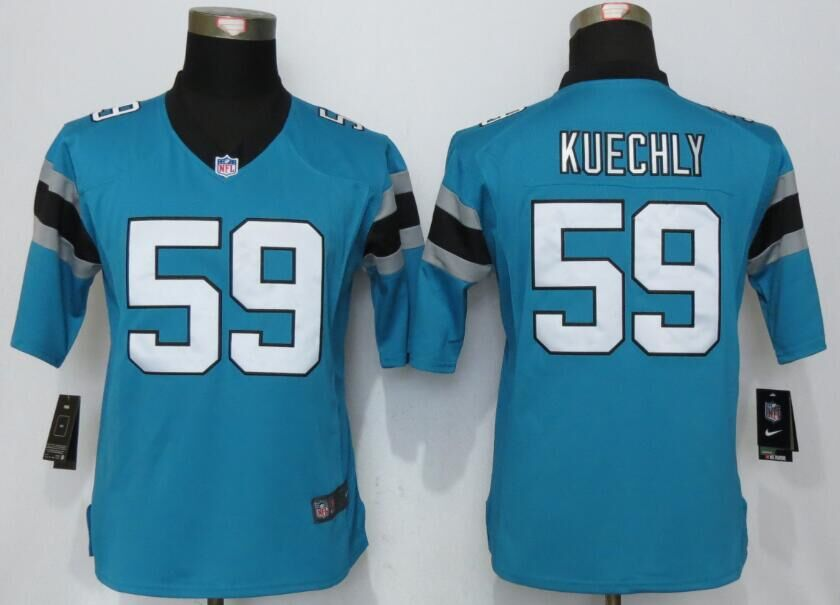 2016 Womens Nike Carolina Panthers 59 Kuechly Blue Limited Jerseys