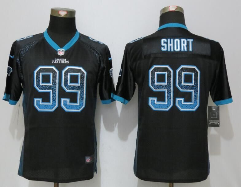 2016 Youth NEW Nike Carolina Panthers 99 Short Drift Fashion Black Elite Jerseys