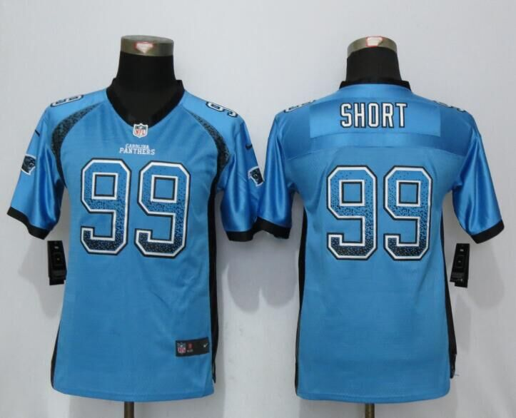 2016 Youth NEW Nike Carolina Panthers 99 Short Drift Fashion Blue Elite Jerseys