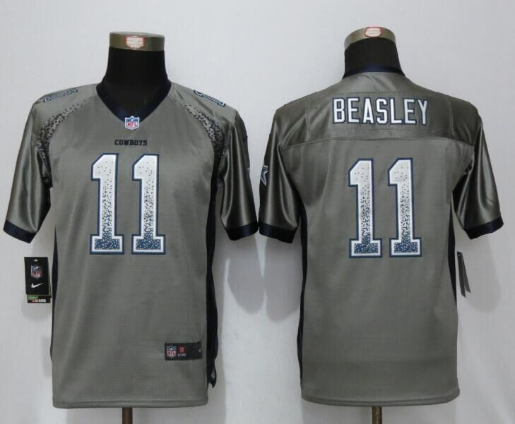 2016 Youth NEW Nike Dallas cowboys 11 Beasley Drift Fashion Grey Elite Jerseys