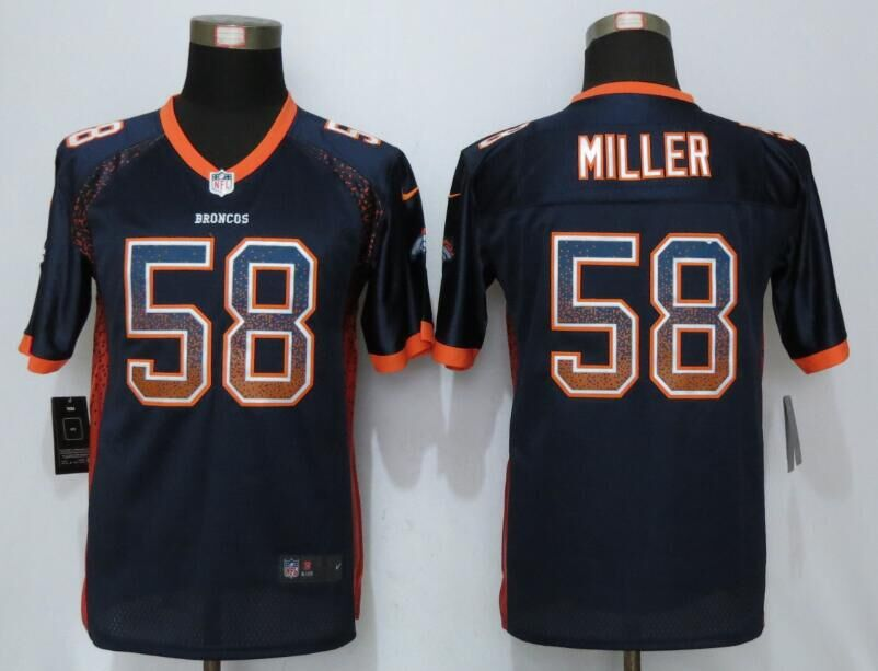 2016 Youth NEW Nike Denver Broncos 58 Miller Drift Fashion Blue Elite Jerseys