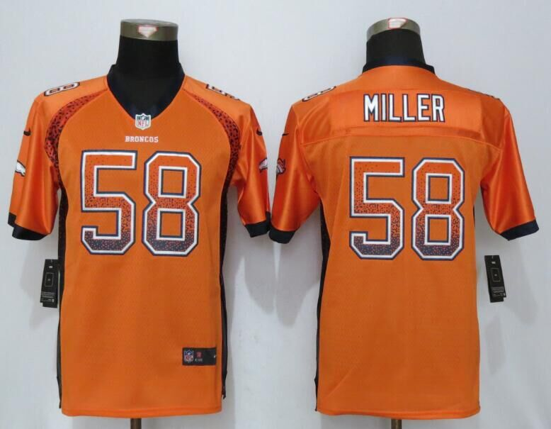 2016 Youth NEW Nike Denver Broncos 58 Miller Drift Fashion Orange Elite Jerseys