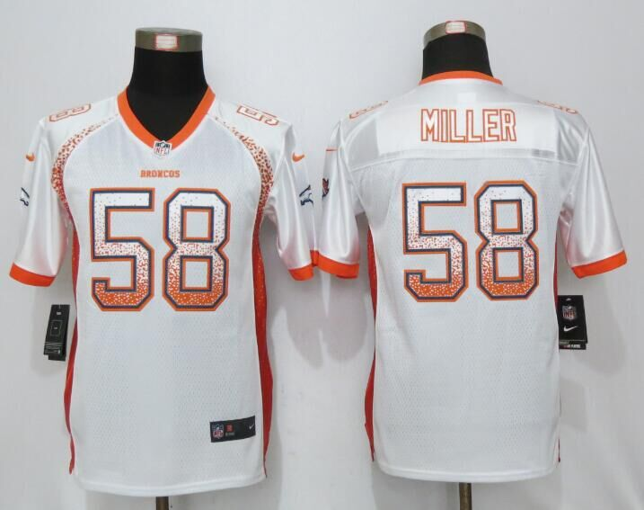 2016 Youth NEW Nike Denver Broncos 58 Miller Drift Fashion White Elite Jerseys