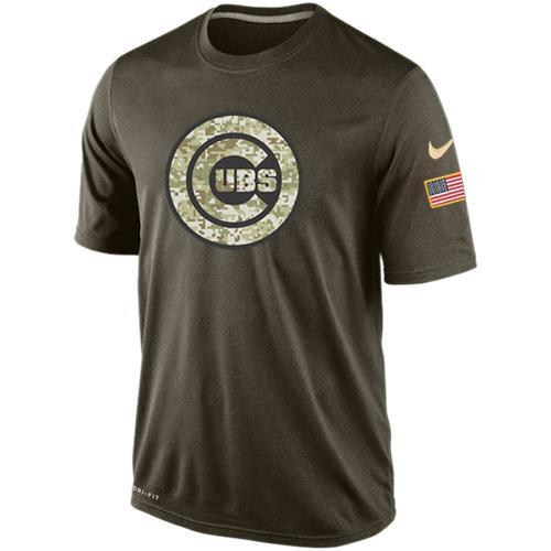 2016 Mens Chicago Cubs Salute To Service Nike Dri-FIT T-Shirt