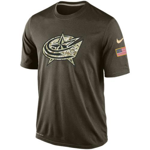 2016 Mens Columbus Blue Jackets Salute To Service Nike Dri-FIT T-Shirt (2)
