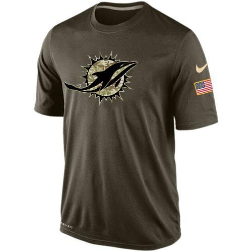2016 Mens Miami Dolphins Salute To Service Nike Dri-FIT T-Shirt