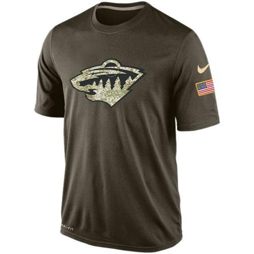 2016 Mens Minnesota Wild Salute To Service Nike Dri-FIT T-Shirt