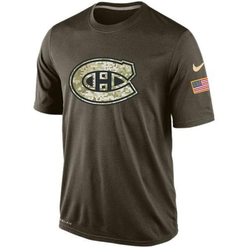 2016 Mens Montreal Canadiens Salute To Service Nike Dri-FIT T-Shirt