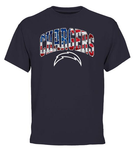 2016 Mens San Diego Chargers Pro Line Navy Banner Wave T-Shirt