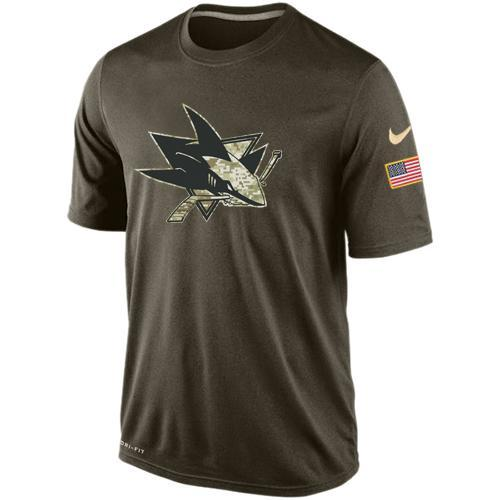 2016 Mens San Jose Sharks Salute To Service Nike Dri-FIT T-Shirt