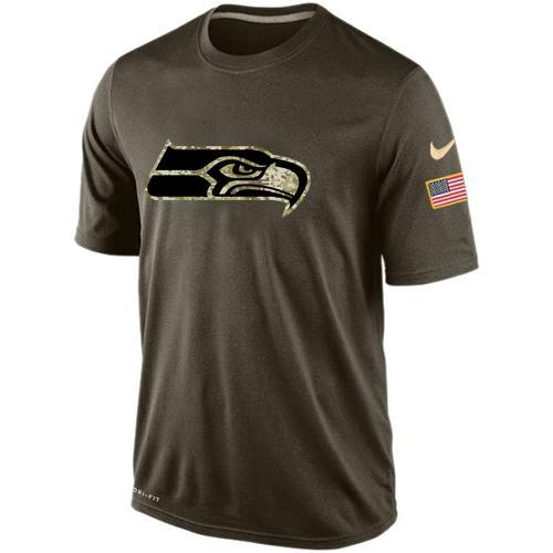 2016 Mens Seattle Seahawks Salute To Service Nike Dri-FIT T-Shirt