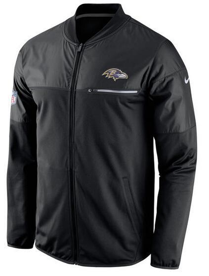 2017 Men Baltimore Ravens Nike Black Elite Hybrid Performance Jacket