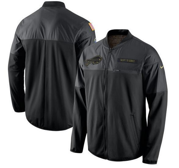2017 Men Buffalo Bills Nike Black Salute to Service Hybrid Performance Jacket