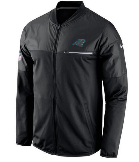 2017 Men Carolina Panthers Nike Black Elite Hybrid Performance Jacket