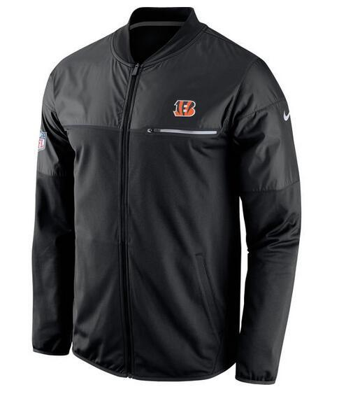 2017 Men Cincinnati Bengals Nike Black Elite Hybrid Performance Jacket