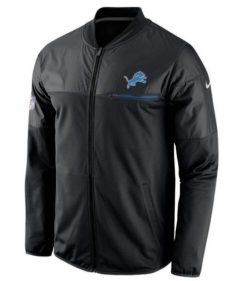 2017 Men Detroit Lions Nike Black Elite Hybrid Performance Jacket