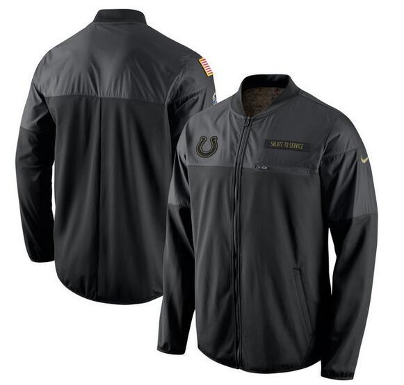 2017 Men Indianapolis Colts Nike Black Salute to Service Hybrid Performance Jacket