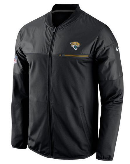 2017 Men Jacksonville Jaguars Nike Black Elite Hybrid Performance Jacket