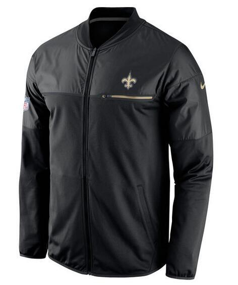 2017 Men New Orleans Saints Nike Black Elite Hybrid Performance Jacket