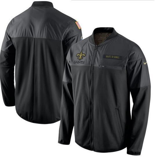 2017 Men New Orleans Saints Nike Black Salute to Service Hybrid Performance Jacket