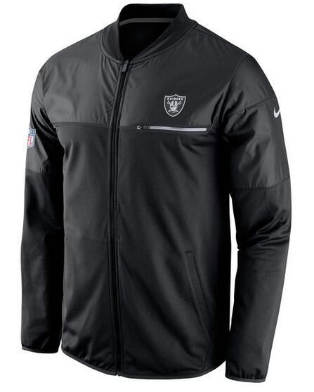 2017 Men Oakland Raiders Nike Navy Elite Hybrid Performance Jacket