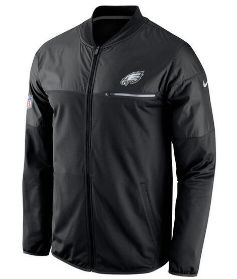 2017 Men Philadelphia Eagles Nike Black Elite Hybrid Performance Jacket